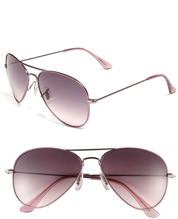 Halogen Aviator Sunglasses