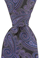 Hart Schaffner Marx Curl Paisley Traditional Silk Tie