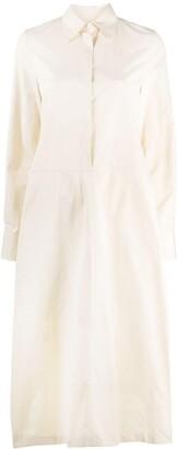 Jil Sander Rear Slit Shirt Dress