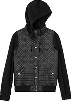 RVCA Juniors Unlabel Fleece Hooded Quilted Puffer Jacket