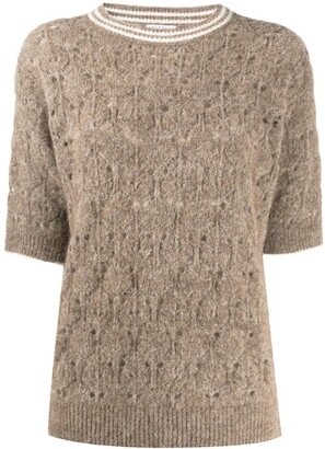 Brunello Cucinelli Perforated Knit Jumper