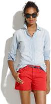 Madewell Denim Cutoff Shorts in Scarborough Red