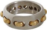 Sharon Khazzam Platinum & Gold Stitch Ring