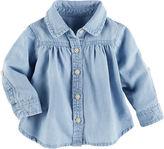 Osh Kosh Oshkosh 3/4 Sleeve Button-Front Shirt Girls