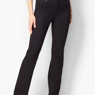 Talbots High-Waist Barely Boot Jeans - Black Long