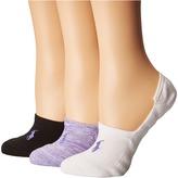 Lauren Ralph Lauren Marl Sneaker Liner 3-Pack Women's Low Cut Socks Shoes