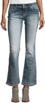 Miss Me Faded Boot-Cut Embroidered Denim Jeans, Medium Blue