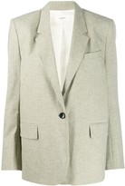 Etoile Isabel Marant one-button houndstooth blazer
