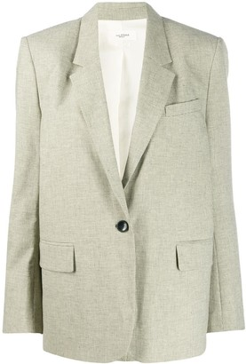 Etoile Isabel Marant One-Button Houndstooth Blazer