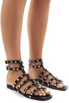 Public Desire Publicity Stud Detail Strappy Flat Sandals