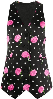 Paco Rabanne Floral Tailored Waistcoat