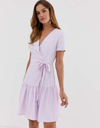 French Connection Armoise wrap dress-Purple