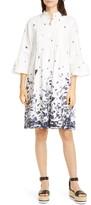 Erdem Floral Pintuck Cotton Poplin Shift Dress