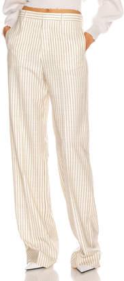 Maison Margiela Tailored Pant in Ivory & Black Stripe | FWRD