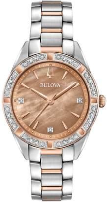 Bulova Two-Tone Stainless Steel 0.01 CT. T.W. Analog Watch