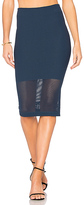 BCBGeneration Mesh Panel Skirt in Navy. - size XS-S (also in )