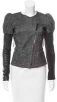 Barbara Bui Leather-Accented Wool Jacket