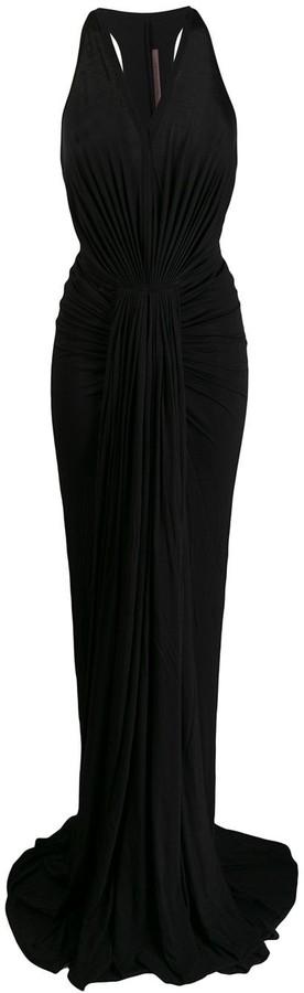 Rick Owens Lilies Long Sleeveless Ruched Dress