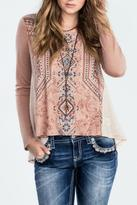 Miss Me High Low Graphic Top