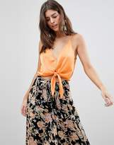 Free People Two Tie For You Cropped Cami Top