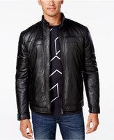 HUGO BOSS Green Men's C-Jordes Leather Jacket