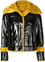 Drome contrast lamb fur trim jacket