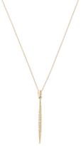 Mizuki 14K Yellow Gold & 0.07 Total Ct. Diamond Starburst Icicle Pendant Necklace