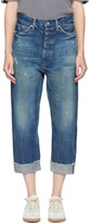Chimala Indigo Selvedge Wide Tapered Cut Jeans