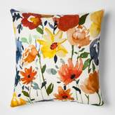 Threshold White And Cream Floral Throw Pillow