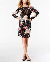 INC International Concepts Ruched Floral-Print Dress, Created for Macy's