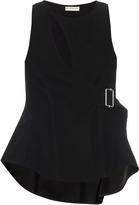 Balenciaga Cut-out stretch-crepe top