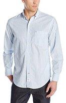 Izod Men's Long Sleeve Newport Oxford Stripe Shirt