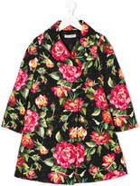 Dolce & Gabbana floral print coat