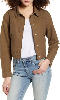 PTCL Cropped Canvas Jacket