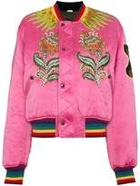 Gucci embroidered reversible bomber jacket
