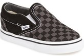 Vans 'Checker' Classic Slip-On (Baby, Walker & Toddler)