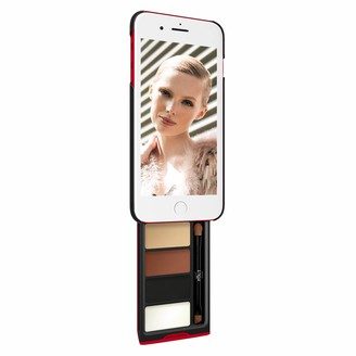 Pout Case Utterly Nude Kit Makeup Case For iPhone Plus Black & Red Case