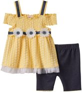 Little Lass Toddler Girl Cold-Shoulder Smocked Top & Shorts Set