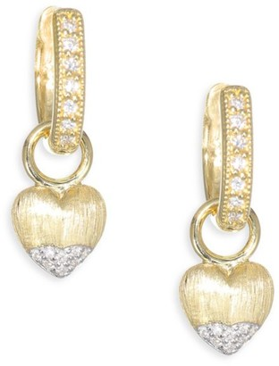 Jude Frances Lisse Diamond & 18K Yellow Gold Heart Earring Charms