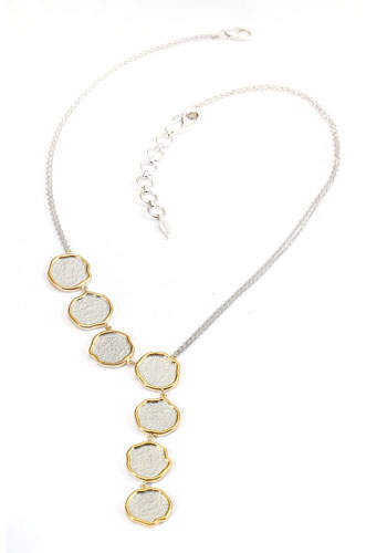 Coomi Serenity Asymmetric Necklace with Diamonds