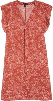 Halogen Flutter Sleeve Shift Dress