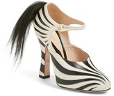 Gucci Women's 'Lesley' Zebra Stripe Pump