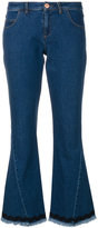 See by Chloe frayed boot-cut cropped jeans
