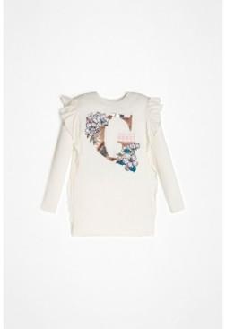 GUESS Big Girls Long Sleeve Flip Sequin T-shirt