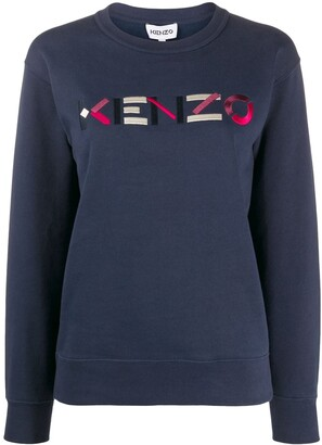 Kenzo Embroidered Logo Crew Neck Sweatshirt