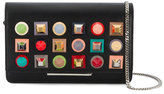 Fendi Tube studded chain wallet