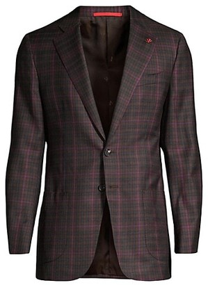 Isaia Classic-Fit Delain Selection Plaid Wool Sportcoat