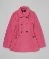 Urban Republic Pink Double-Breasted Peacoat - Toddler & Girls