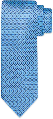 Stefano Ricci Men's Luxury Quatrefoil Medallion-Print Silk Tie