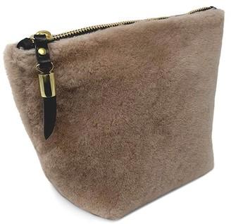 Veronica Beard Shearling Makeup Bag
